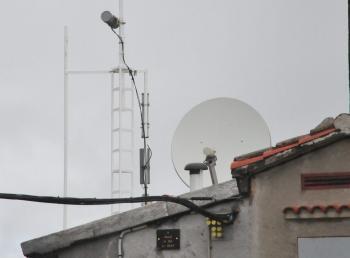 Les antennes du Prat d'Albis, au-dessus de Foix.
