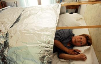 Éliane Dreuil dort dans sa cage de faraday pour éviter les ondes électromagnétiques. /Photo DDM D.D.