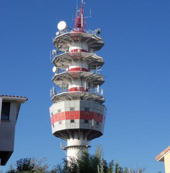 Des mesures ont été réalisées près de la tour TDF./Photo DDM
