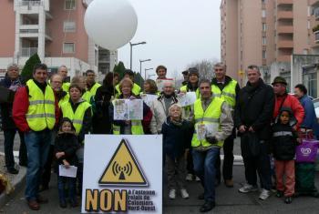 Le collectif « Bien vivre à Colomiers » est opposé au projet d'antenne-relais./Photo DDM, Simone Beugin.