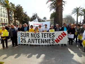 Forte mobilisation, samedi dernier, pour le déplacement des 25 antennes-relais de Villeneuve de la Raho