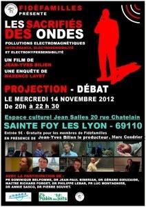 """Sainte foy les lyon : projection du film """"Les sacrifiés des ondes""""."""
