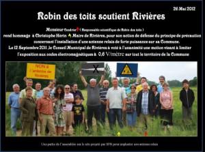 Robin des toits soutient la commune de Rivières
